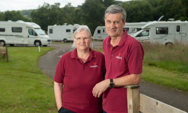 Site managers for Culloden Moor Caravan Park, Keith and Lisa Jeffs on site. Pictures by Jason Hedges