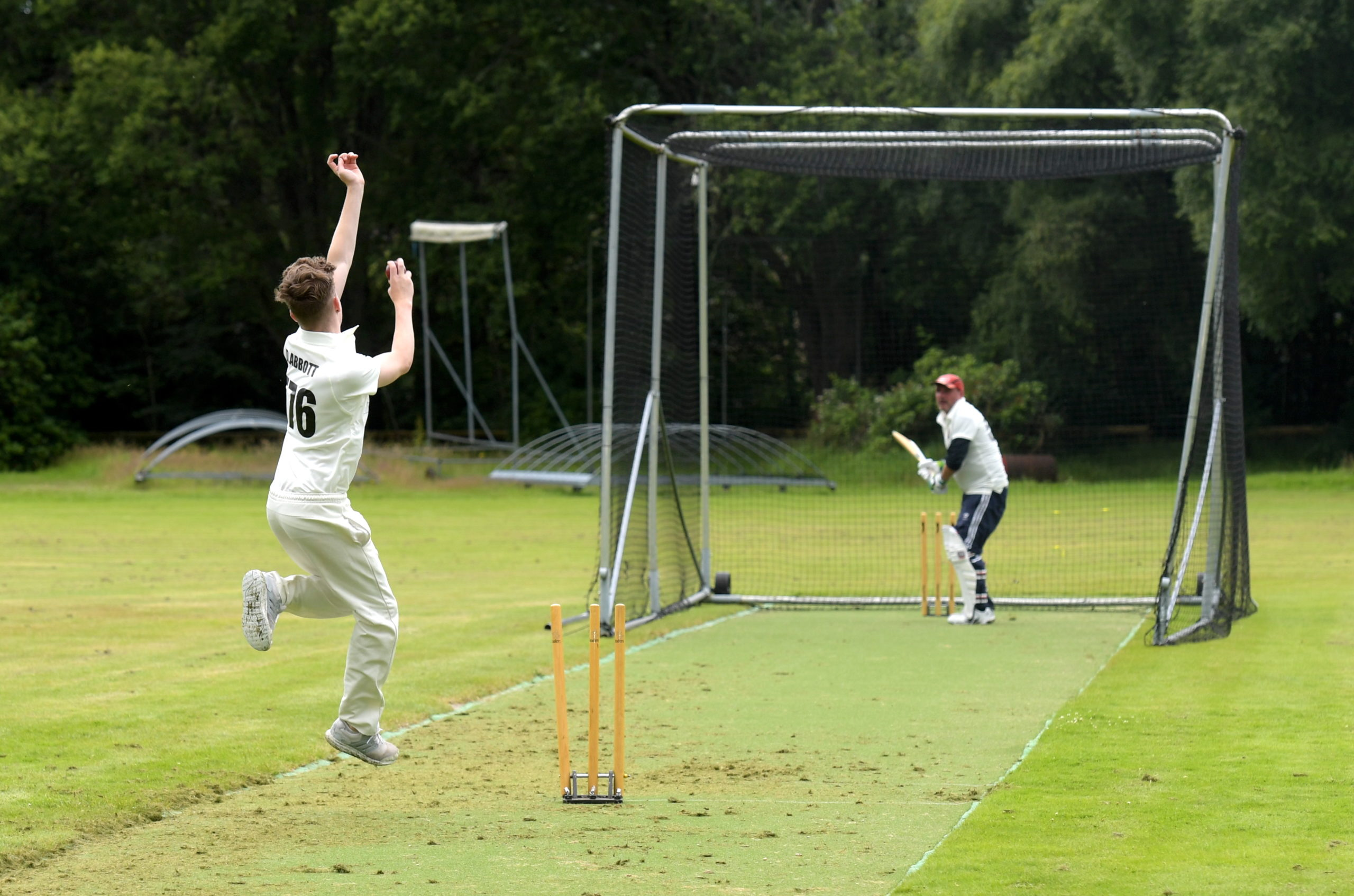 Banchory Cricket Club are back in training.  Picture by Kath Flannery.