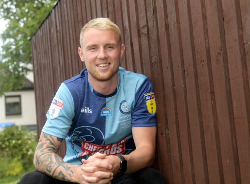 Wycombe Wanderers play-off winner Jack Grimmer, back home in Aberdeen.