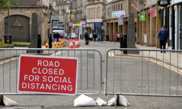 The east end of Elgin High Street will be closed daily to traffic from 11am to 4pm.