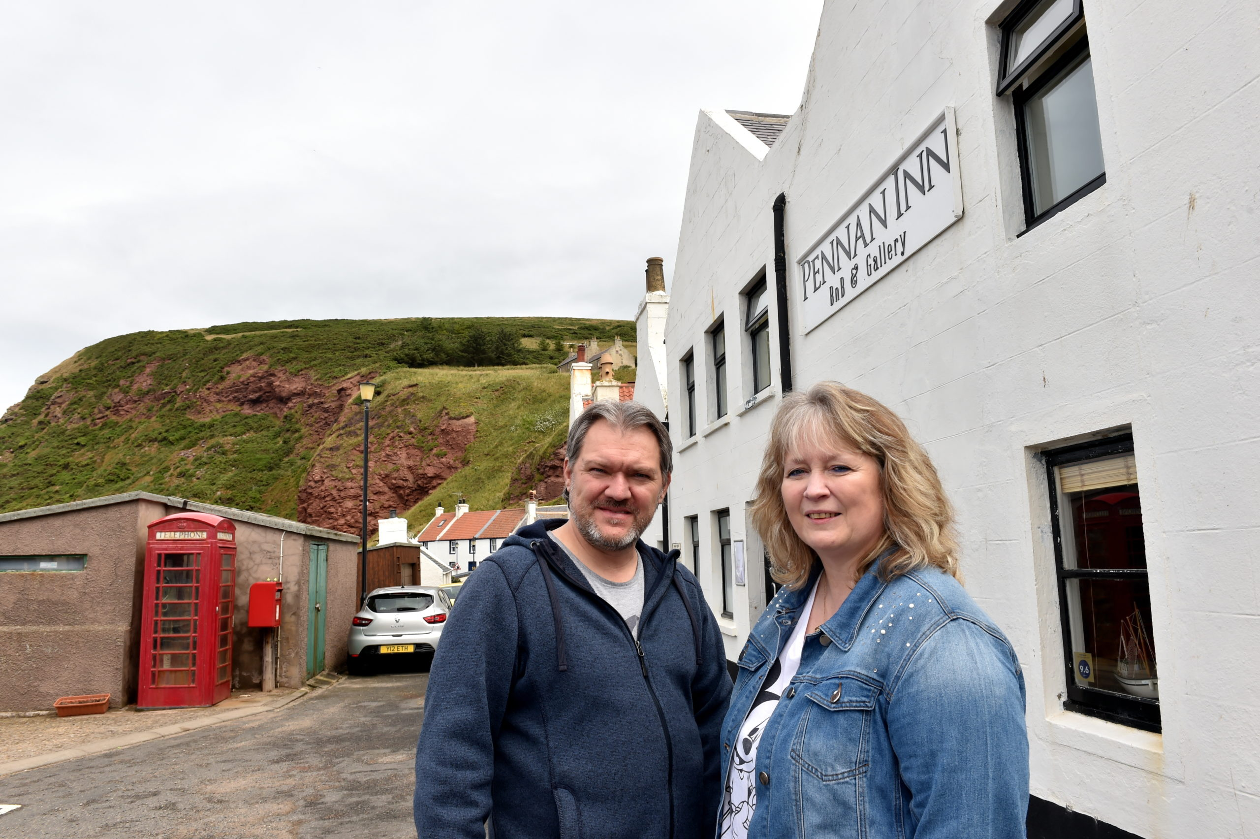 New owners of the Pennan Inn, Roland and Monika Focht. Picture by Kami Thomson