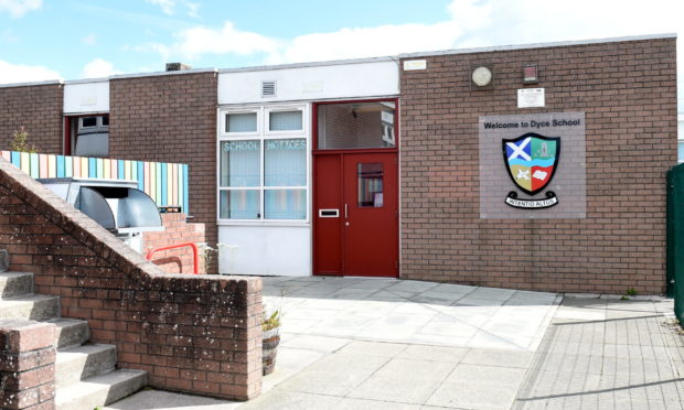 Locator of Dyce primary schoool  Picture by Paul Glendell