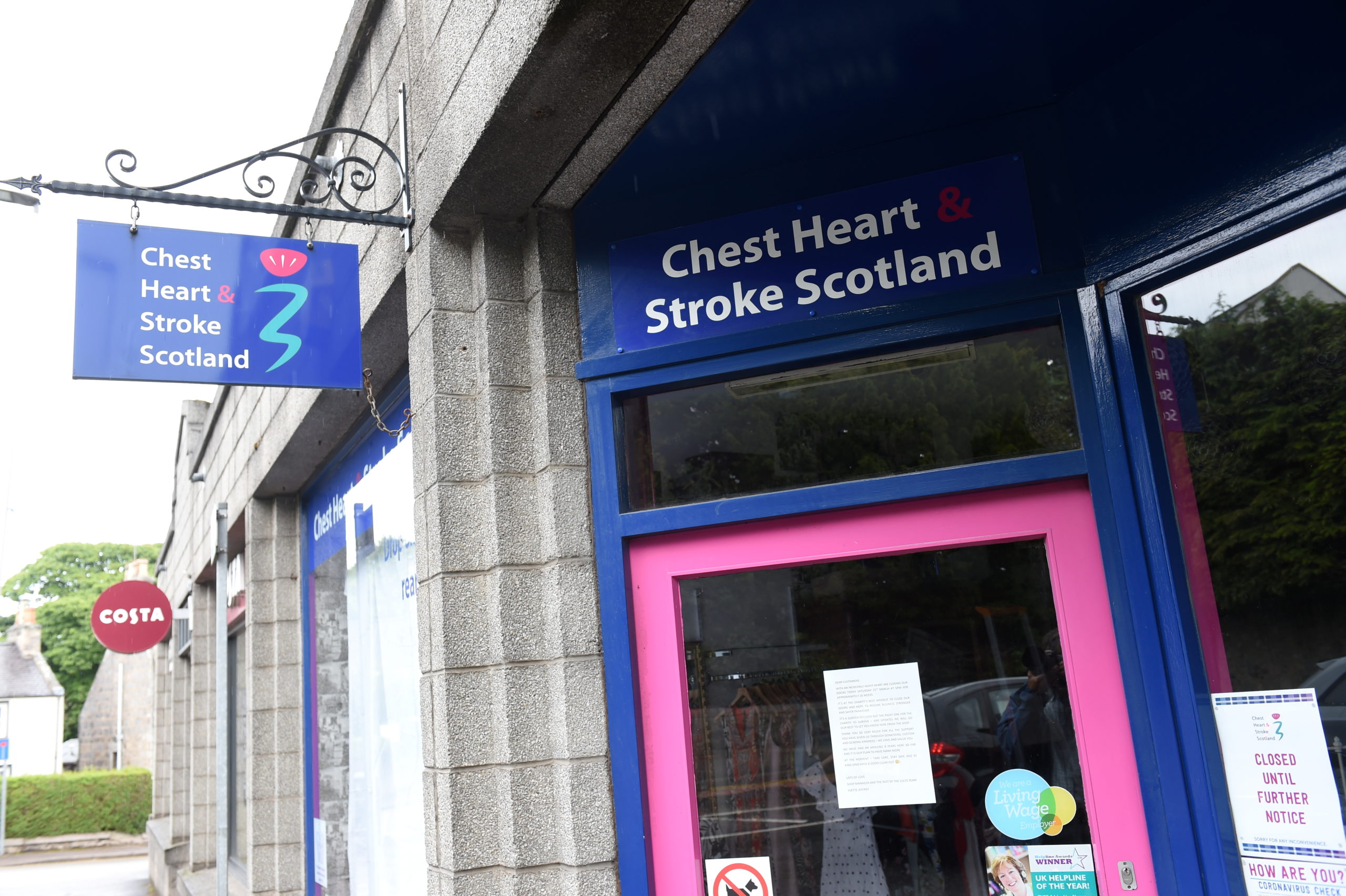 The Cults Chest Heart and Stroke Scotland charity shop is preparing to re-open on July 31.  Picture by Paul Glendell     20/07/2020