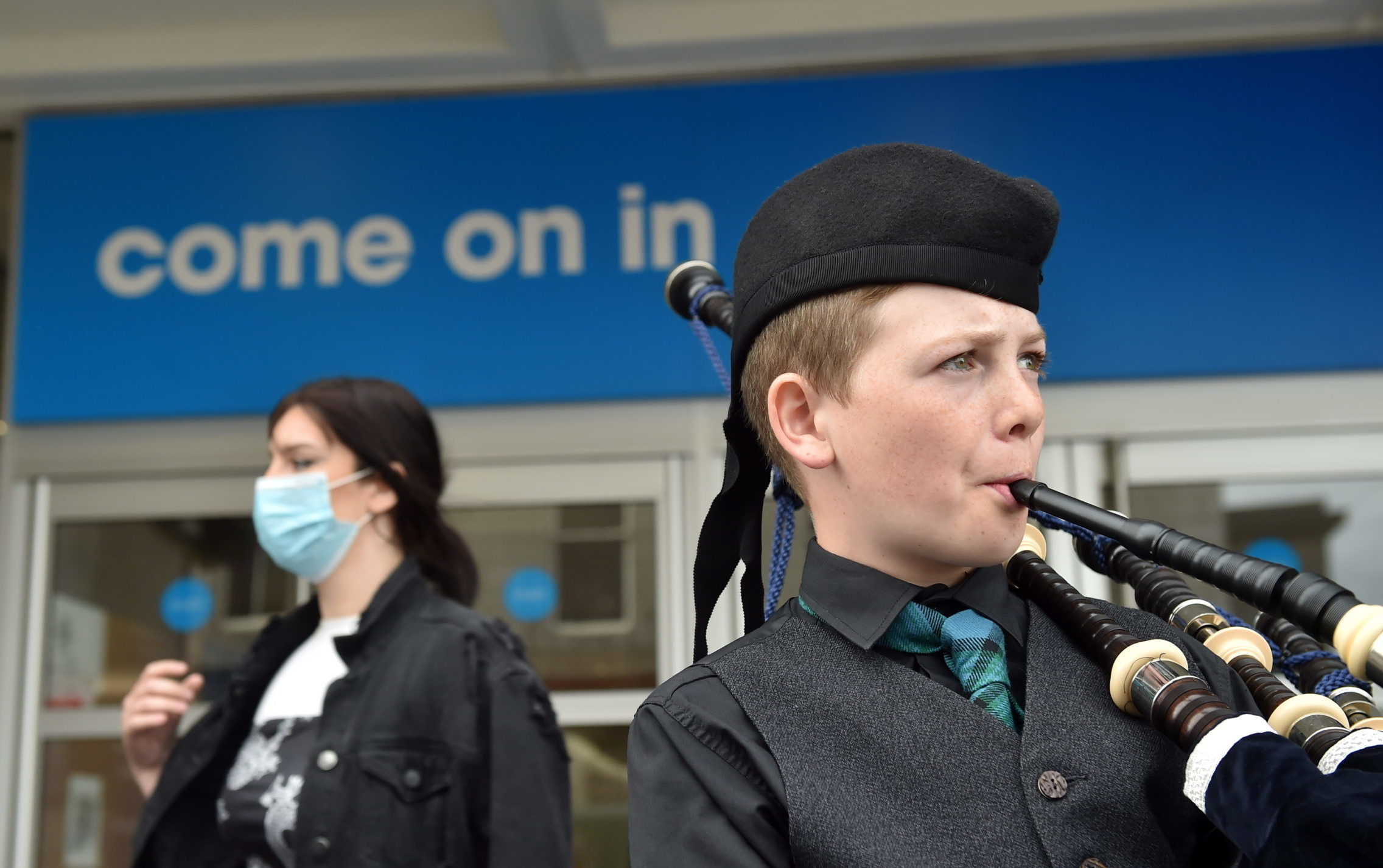 Piper welcomes customers back to Trinity Centre in Aberdeen. Picture by Scott Baxter