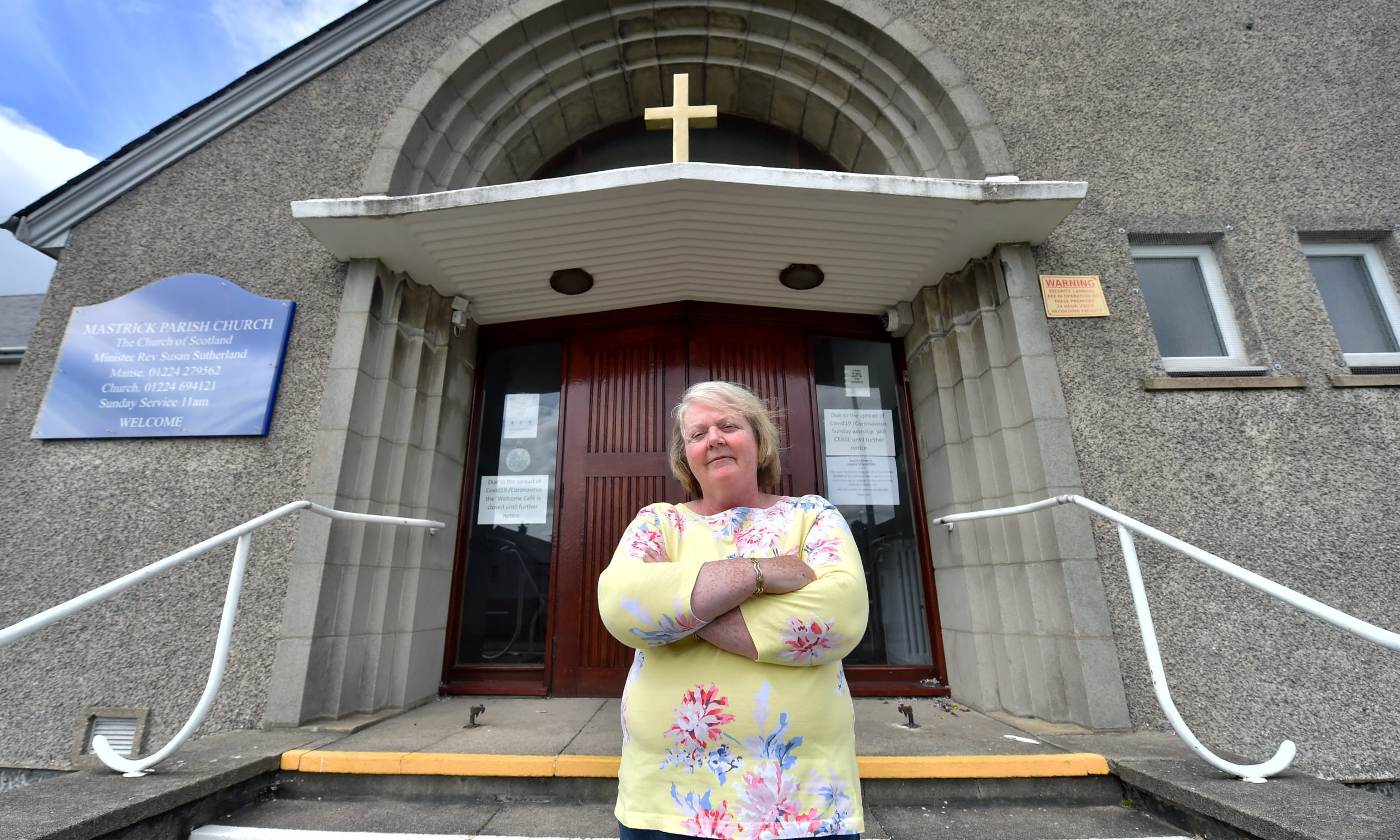 Rev Susan Sutherland, outside Mastrick Parish Church.  Picture by Scott Baxter