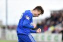 Chris Antoniazzi celebrates scoring for Cove Rangers against Annan