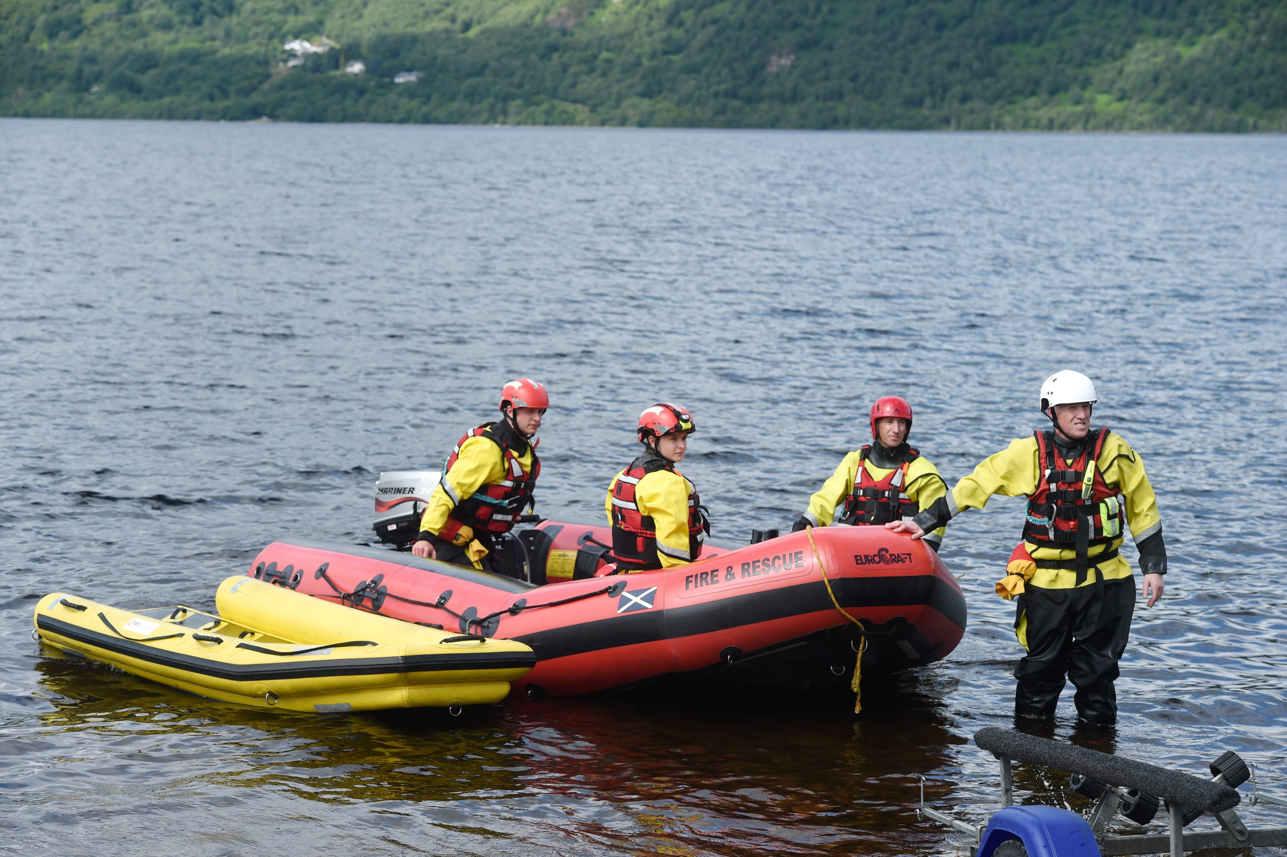 The search continues for the missing man in Loch Ness after the boating accident on Thursday evening.  Picture by Sandy McCook