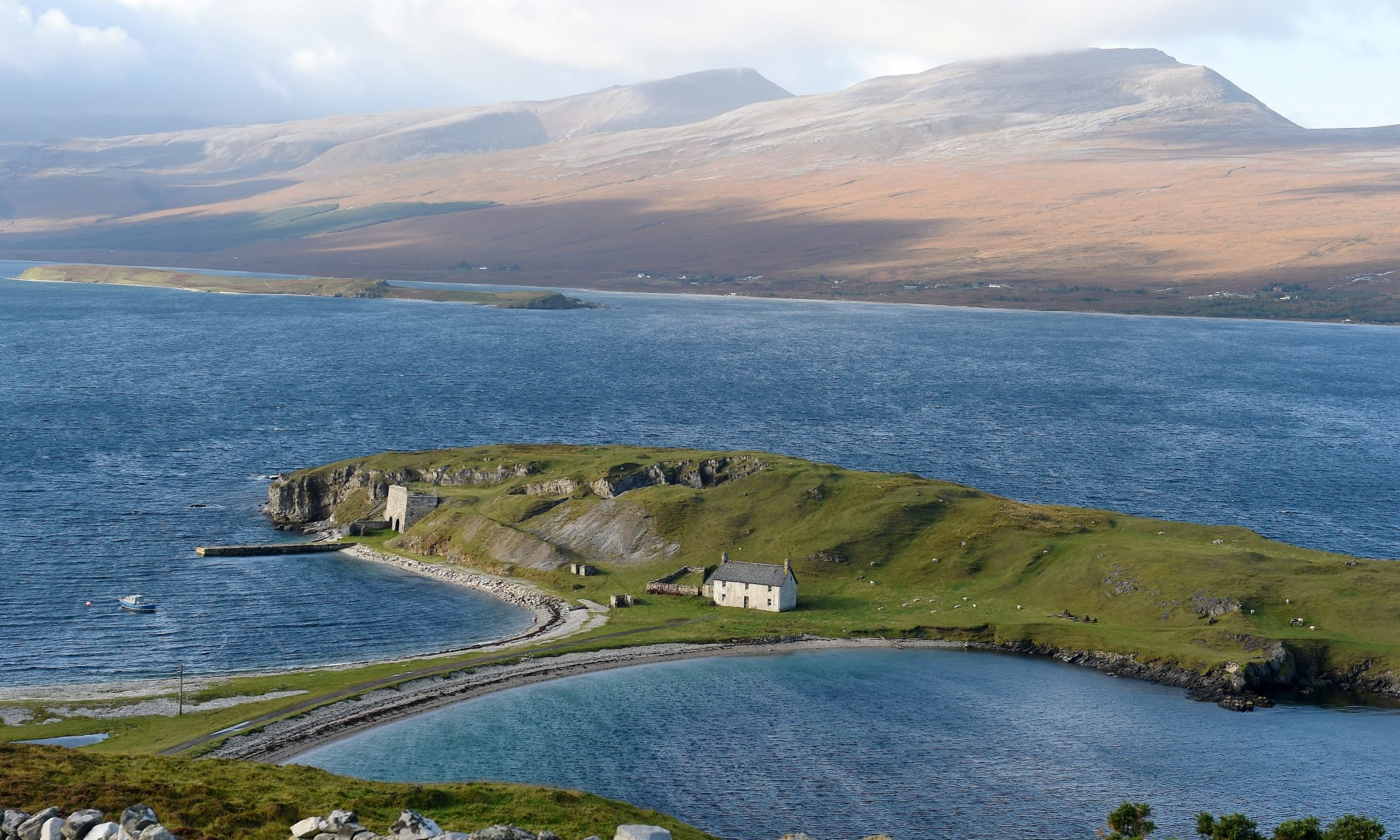 With its massive coastline, Sutherland is the biggest beneficiary of  Scottish Crown Estate's marine asset funds. Picture by SANDY McCOOK  10th October '17 Loch Eriboll near Durness in Sutherland.