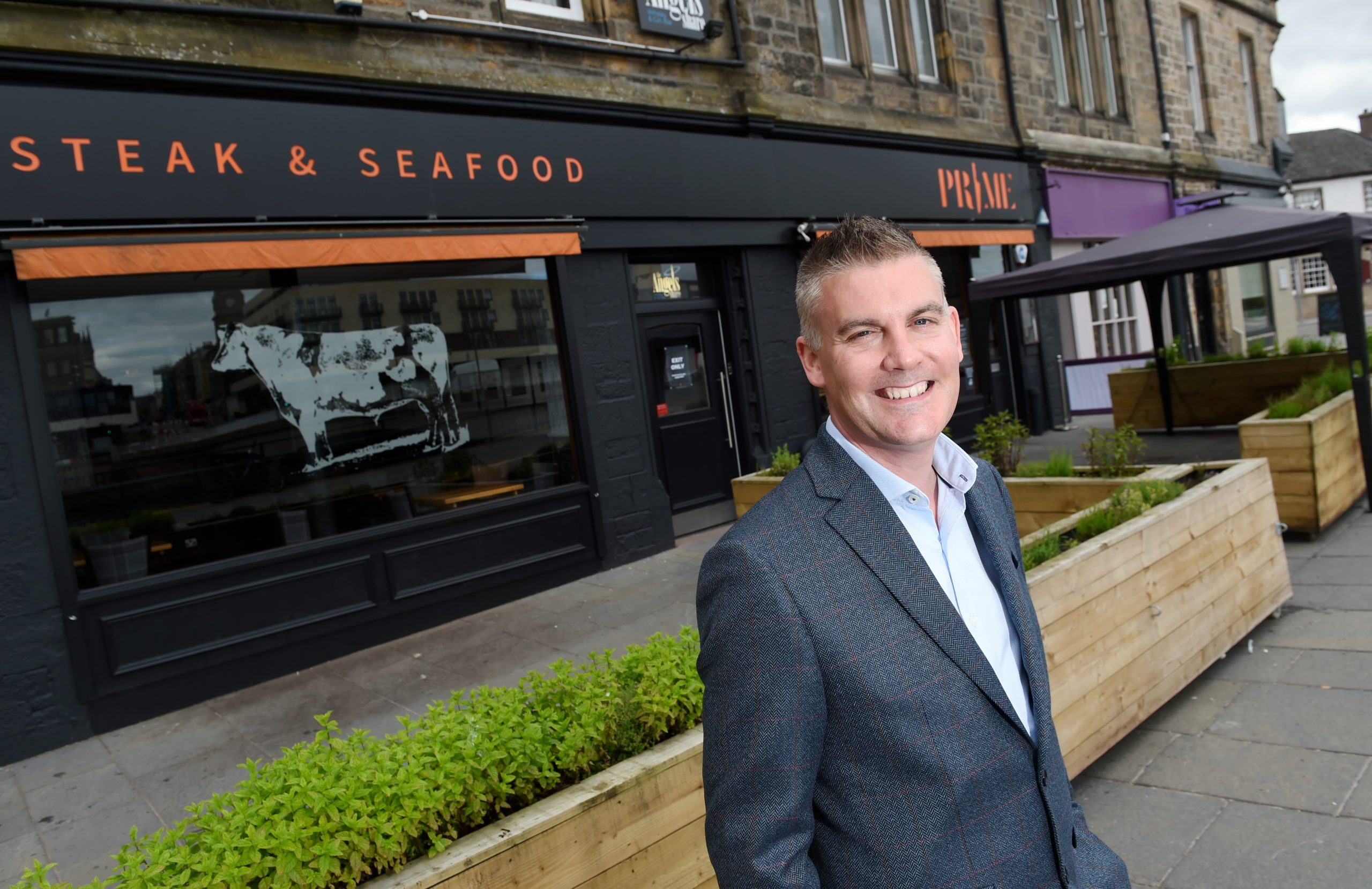 Scott Murray of Cru Holdings outside their Prime restaurant on Ness Walk in Inverness.