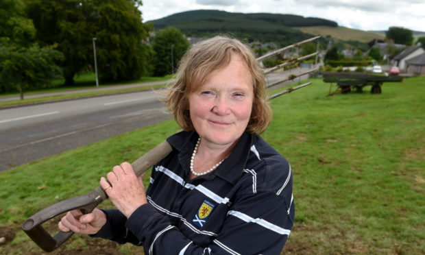 June Donald, a trustee of the Dufftown and District Community Association. Picture by Sandy McCook.