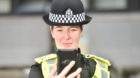 PC Julie Nicol shows off the device when it was launched in Aberdeen last year.