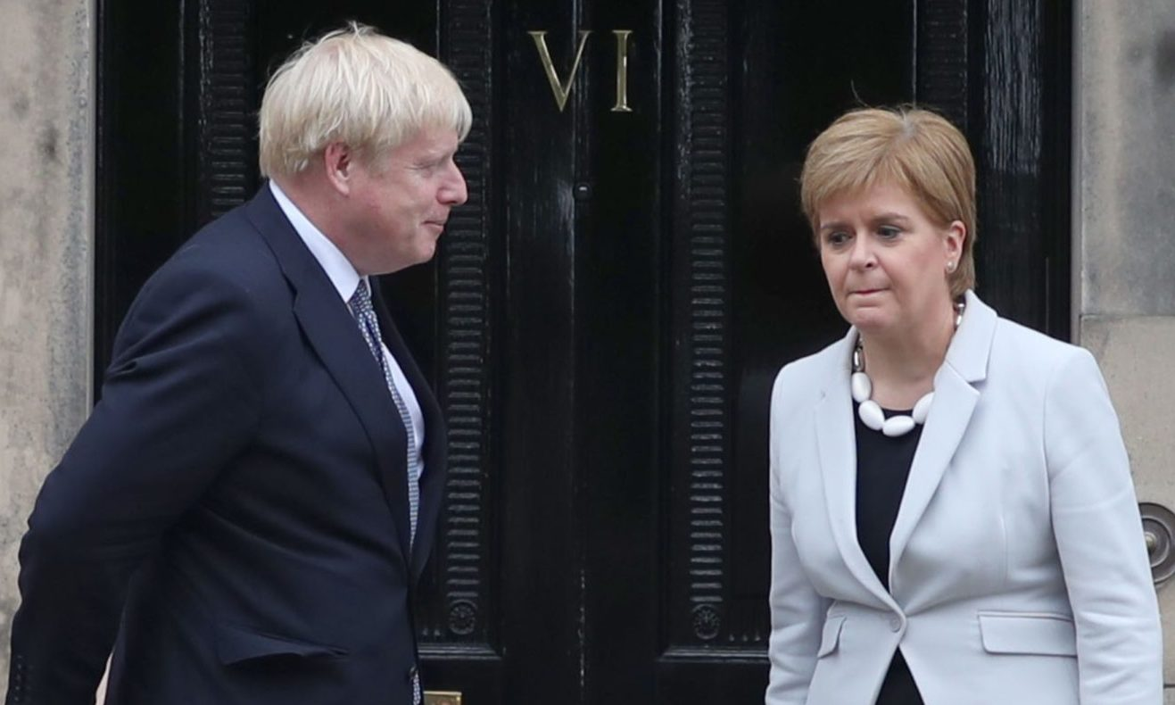 Neither leader could have imagined the challenges they would face within months of Boris Johnson's first visit to Scotland as prime minister in July 2019. But Nicola Sturgeon is commonly regarded to have handled the coronavirus crisis better than Mr Johnson — increasing concerns in Number 10 that Scotland's appetite for independence may be increasing.