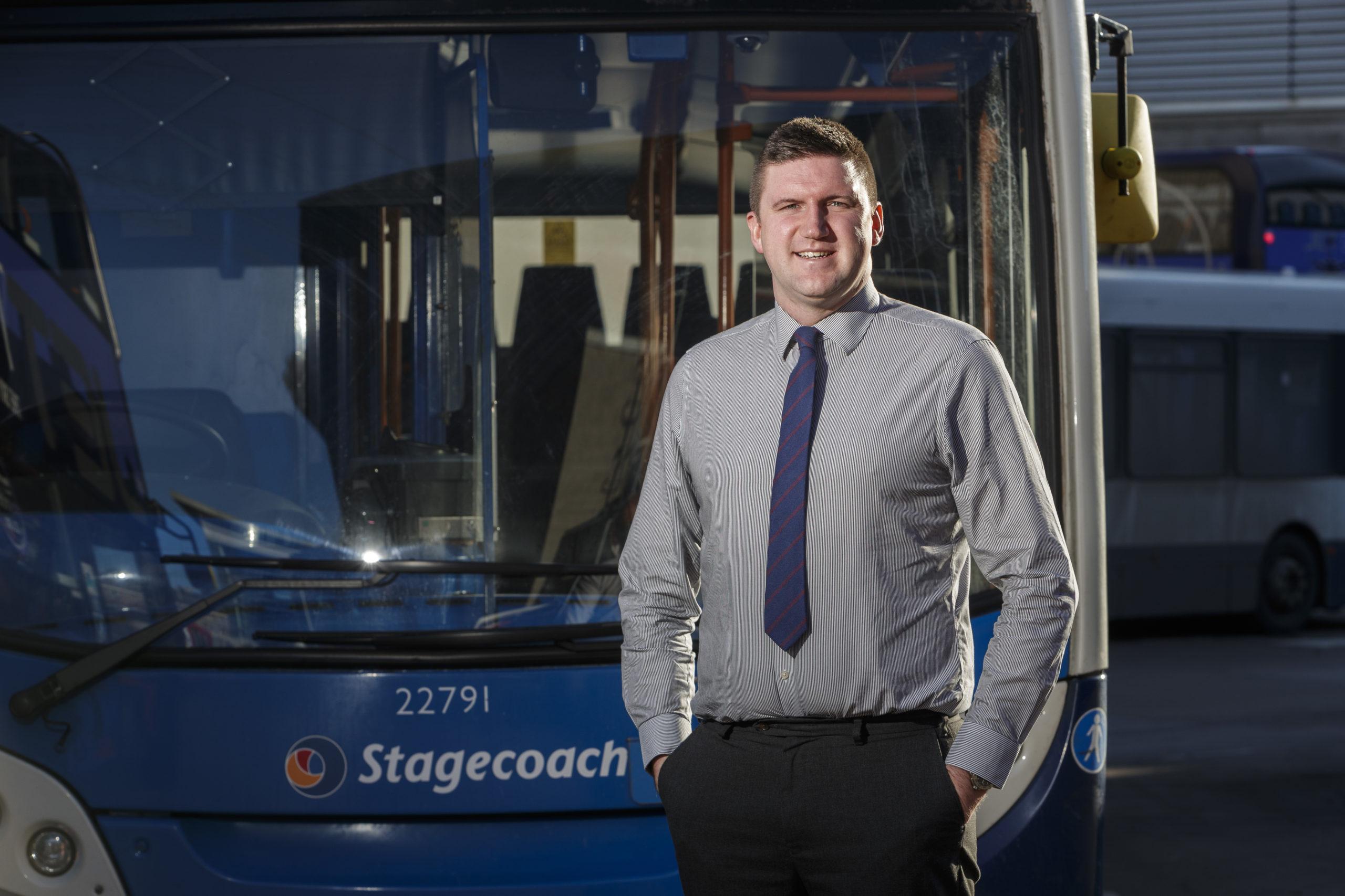 Stagecoach Bluebird boss Peter Knight.
