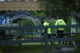 Police at Dores. Sandy McCook. July 10 2020