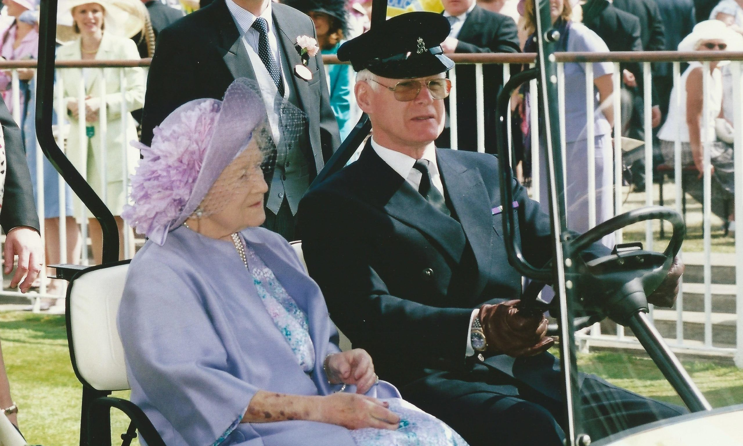 Arthur Barty driving the Queen Mother.