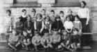 Robert Shaw, back row, left, went to Stromness Academy after his parents moved to Orkney.
