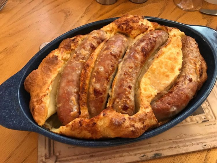 Sarah Heward's take on a classic Toad in the Hole dish.