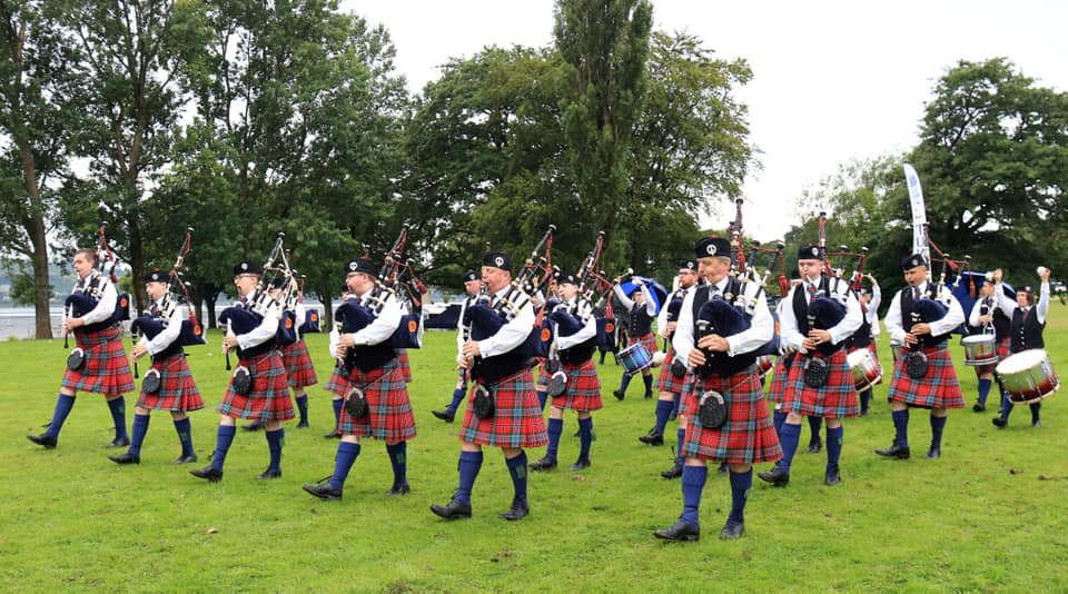 Turriff Pipe Band at the Scottish Championships 2019