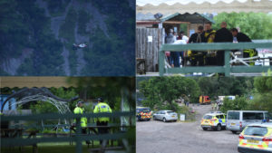 Pictures from the scene in Dores. By Sandy McCook