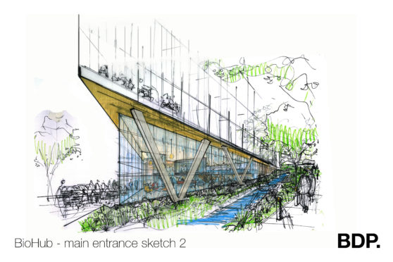 Artists impression of the building.