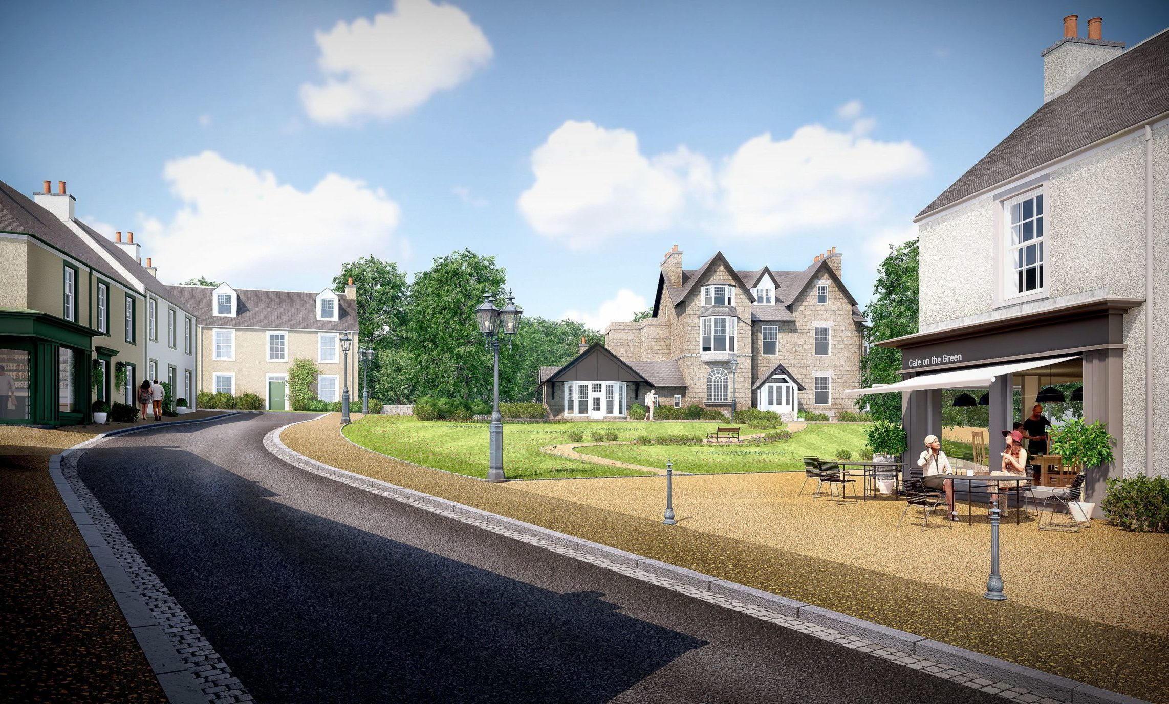 An artist's impression of a planned retirement village at Binghill House in Milltimber.