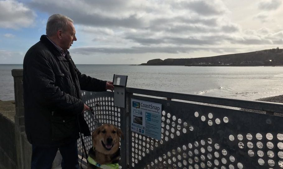Mr Robertson and Murphy on Stonehaven's waterfront