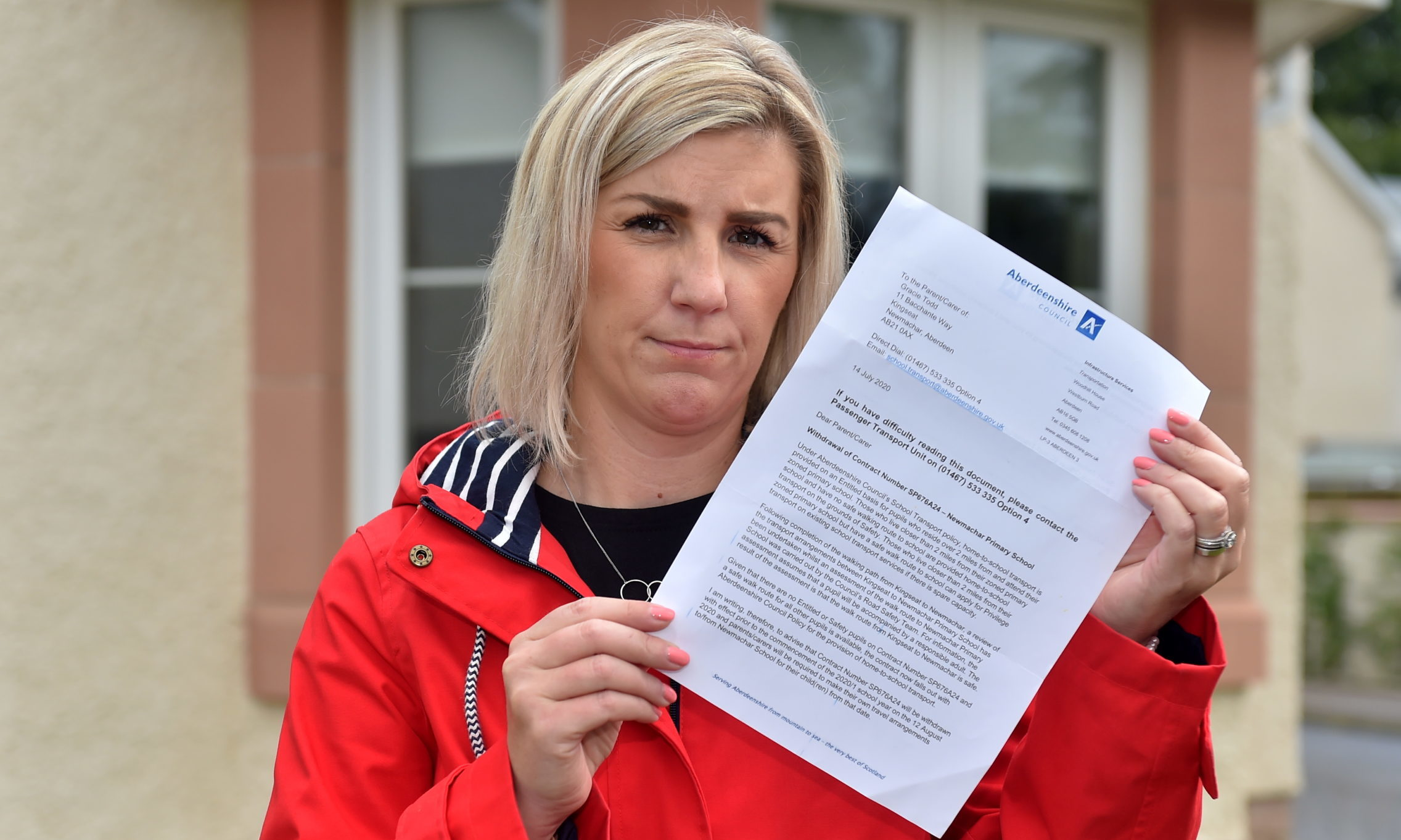 Jade Todd has written to local councillors and MSPs on the issue.