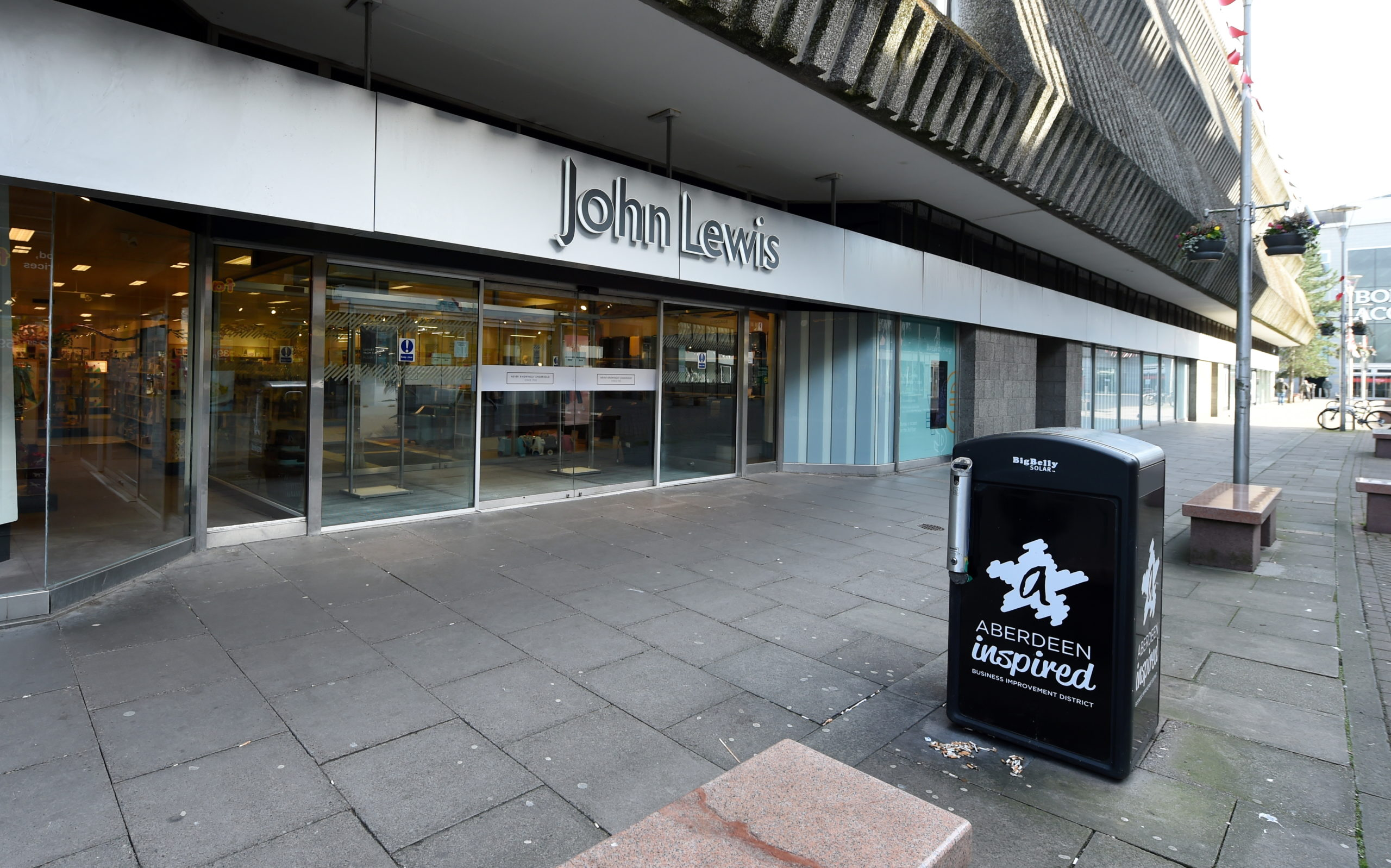 John Lewis on George Street, Aberdeen.  Picture by Jim Irvine.
