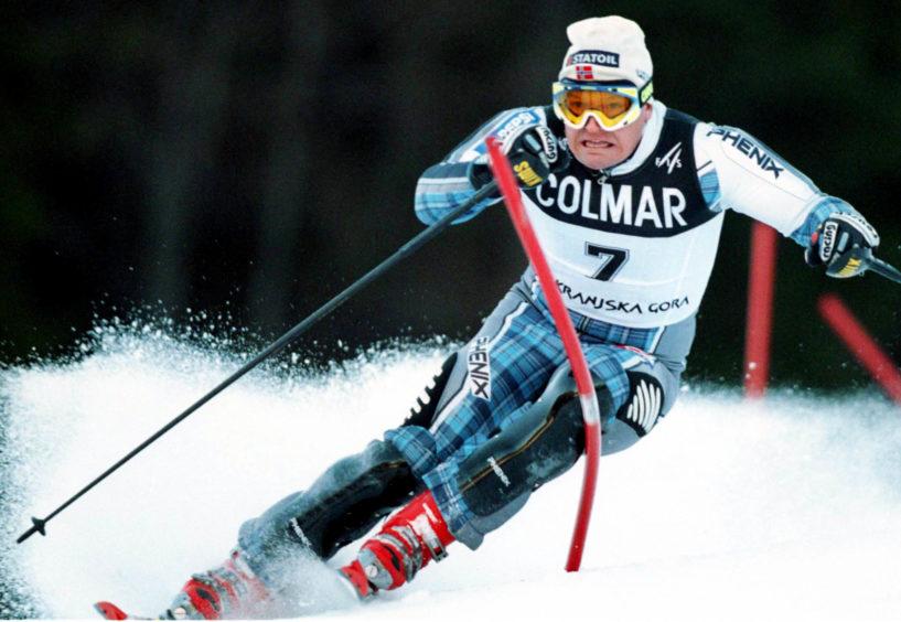 Mandatory Credit: Photo by Armando Trovati/AP/Shutterstock (7240133d) JAGGE Finn Christian Jagge, of Norway, clears a gate in a men's ski World Cup slalom in Kranjska Gora, Slovenia, . Jagge was fifth at finish line SLOVENIA SKI WORLD CUP, KRANJSKA GORA, Slovenia