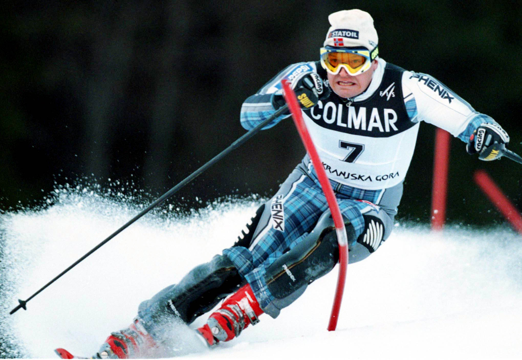Mandatory Credit: Photo by Armando Trovati/AP/Shutterstock (7240133d) JAGGE Finn Christian Jagge, of Norway, clears a gate in a men's ski World Cup slalom in Kranjska Gora, Slovenia, . Jagge was fifth at finish line SLOVENIA SKI WORLD CUP, KRANJSKA GORA, Slovenia