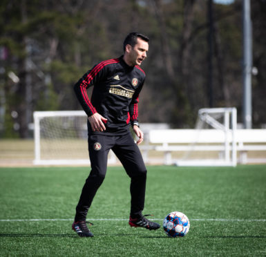 Stephen Glass takes training at Atlanta United. Pic courtesy of Atlanta United.