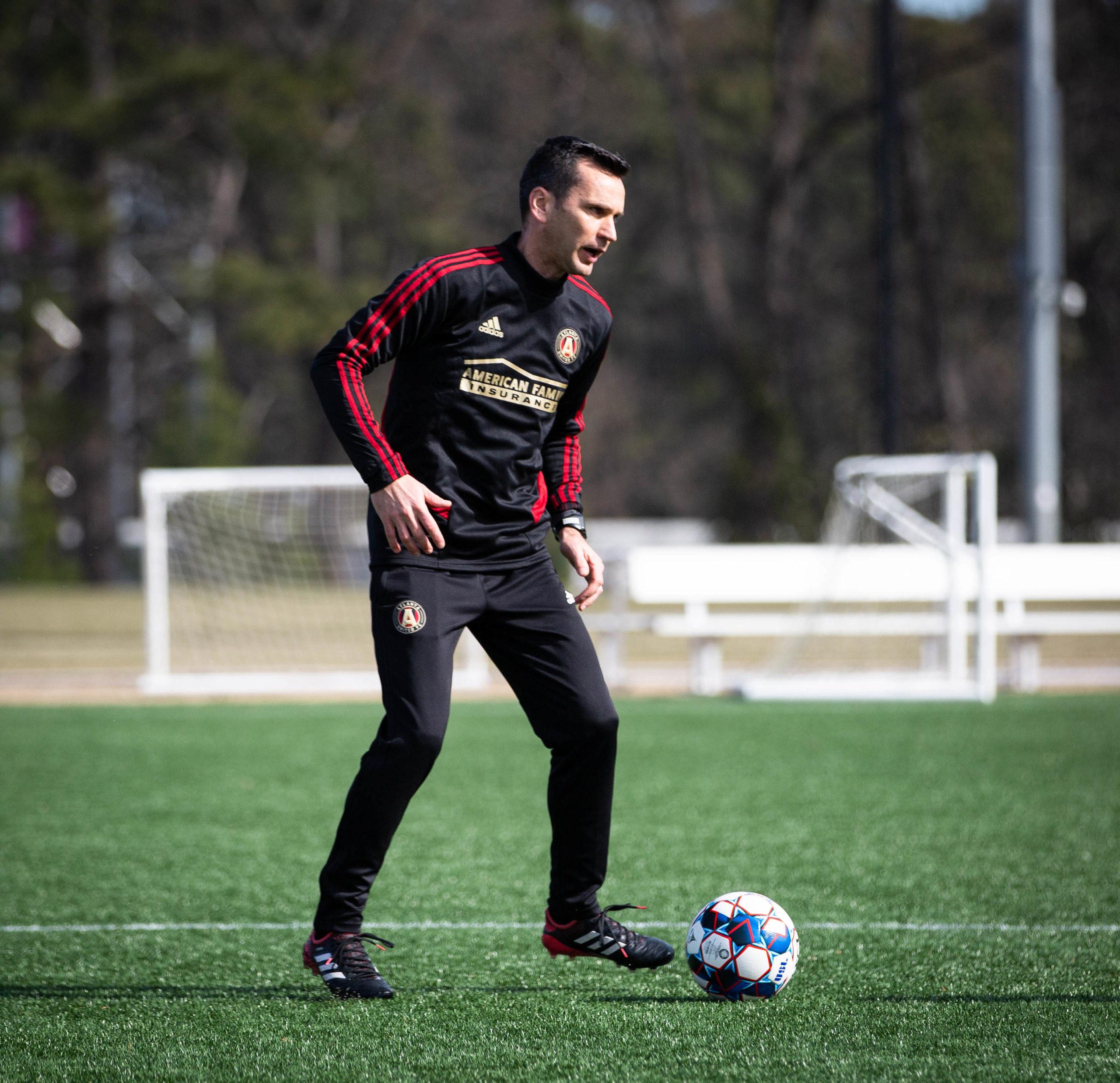Stephen Glass takes training at Atlanta United. Pic courtesy of Atlanta United.
