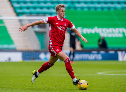 Aberdeen's Ross McCrorie in action against Hibs.