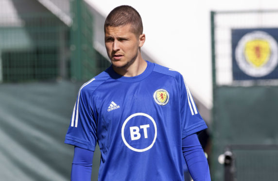 Lyndon Dykes is in his first Scotland squad