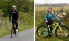 North-East cyclists Neil Mackland and Caroline Hood.