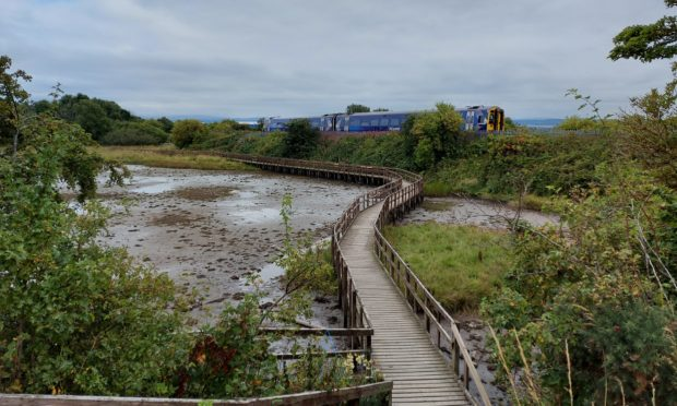 The boardwalk at Merkinch Local Nature Reserve was at risk of closure.