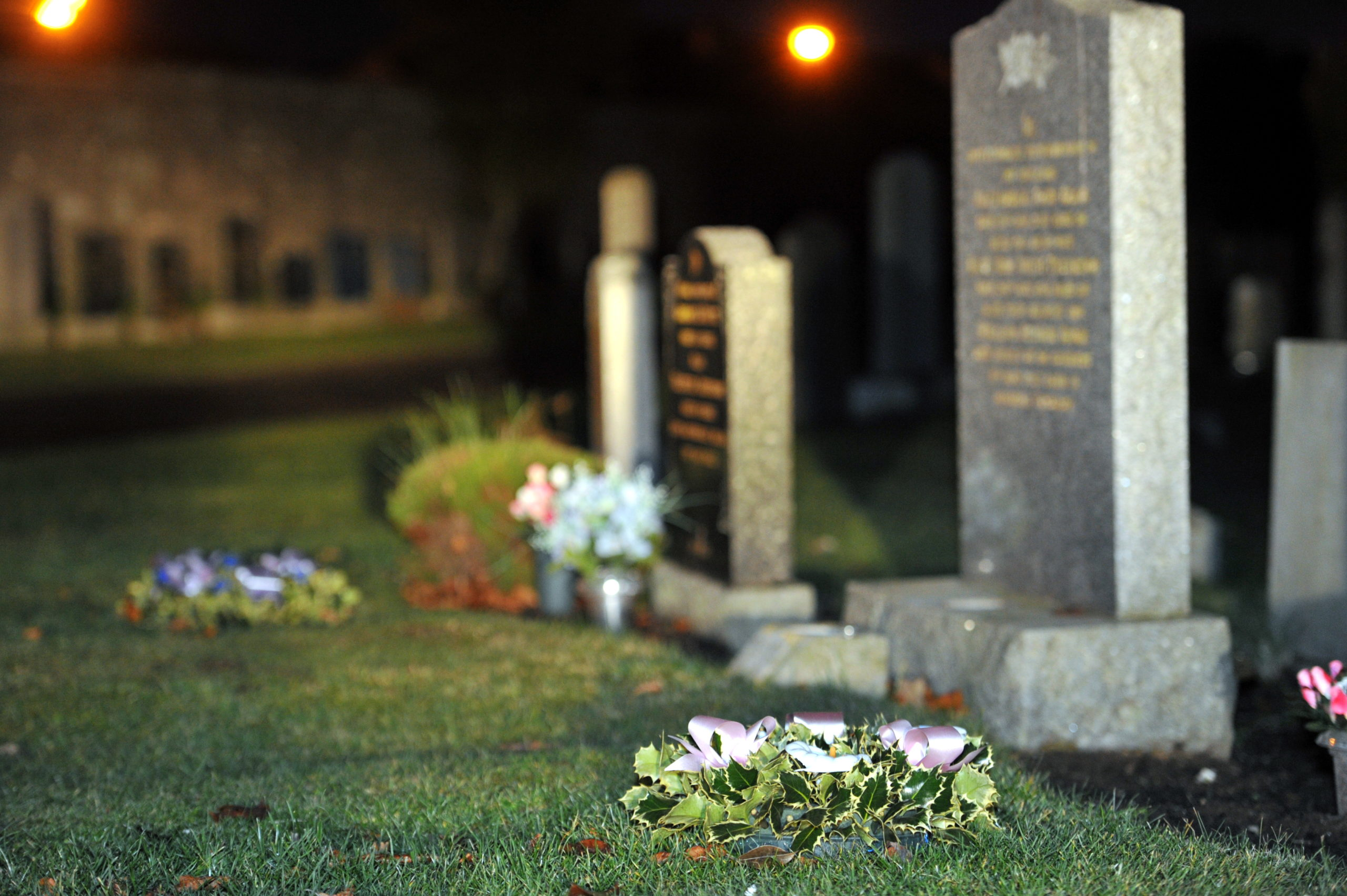 Thefts have been reported from the cemetery in Elgin.