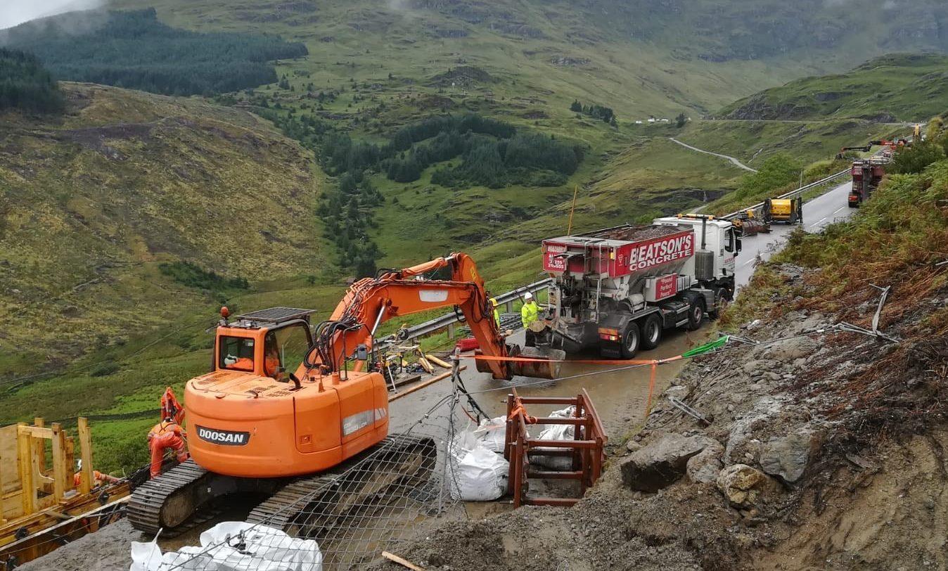 Bear Scotland engineers at work.