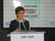 First Minister Nicola Sturgeon at yesterday's coronavirus briefing