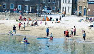A sunny day on Stonehaven beach. Picture by Chris Sumner.