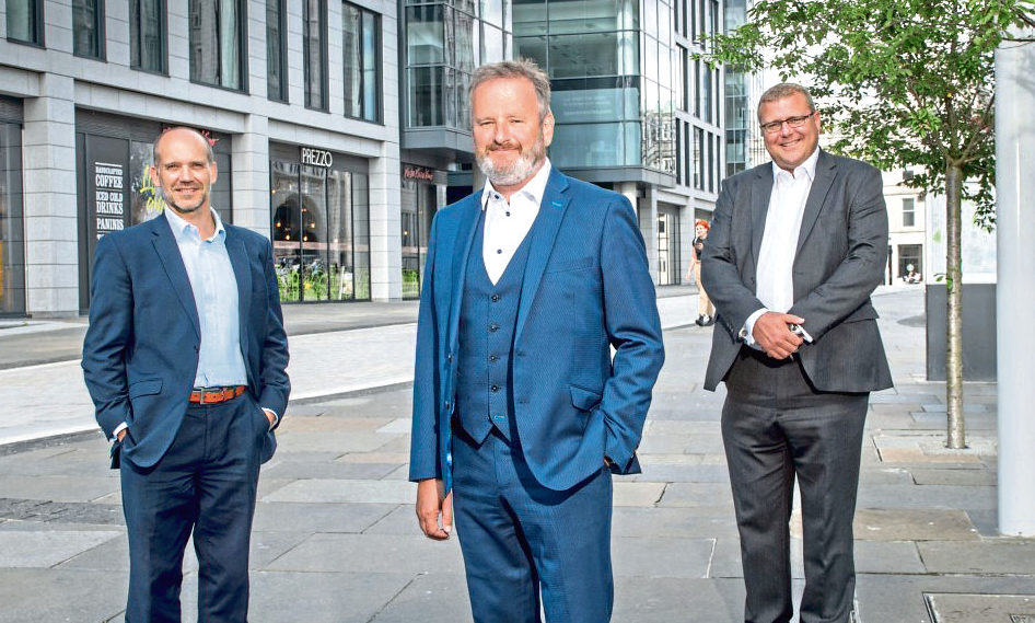 L-R: Moray Barber, Derek Leith and Duncan Reoch of professional services firm EY, which has welcomed new faces.