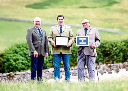 From left, RHASS chairman Bill Gray, Willie Thomson and Jimmy Thomson.