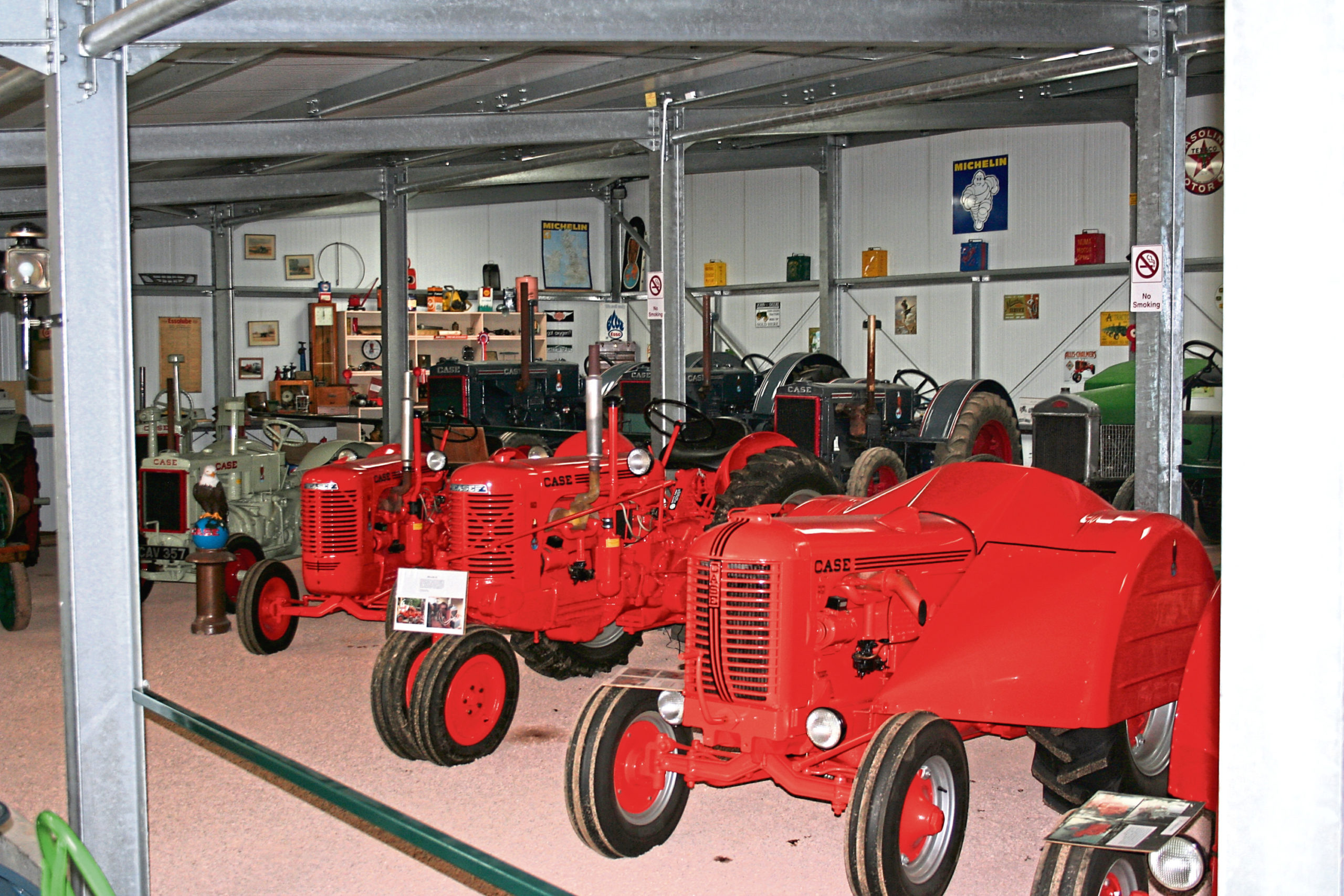 Some of the Flambeau Red painted Case tractors from the D series and S series ranges.