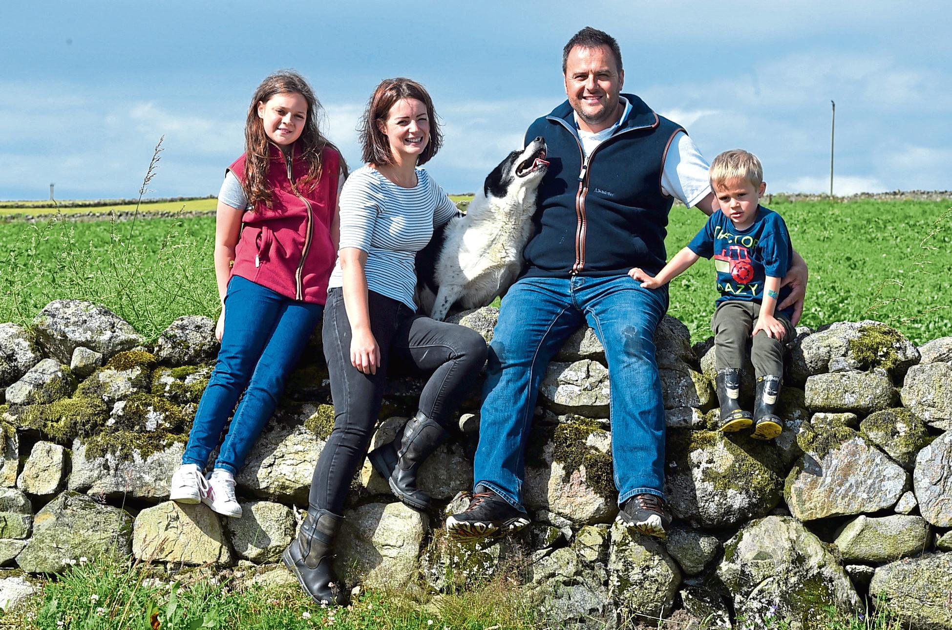 Stuart Wood and family.