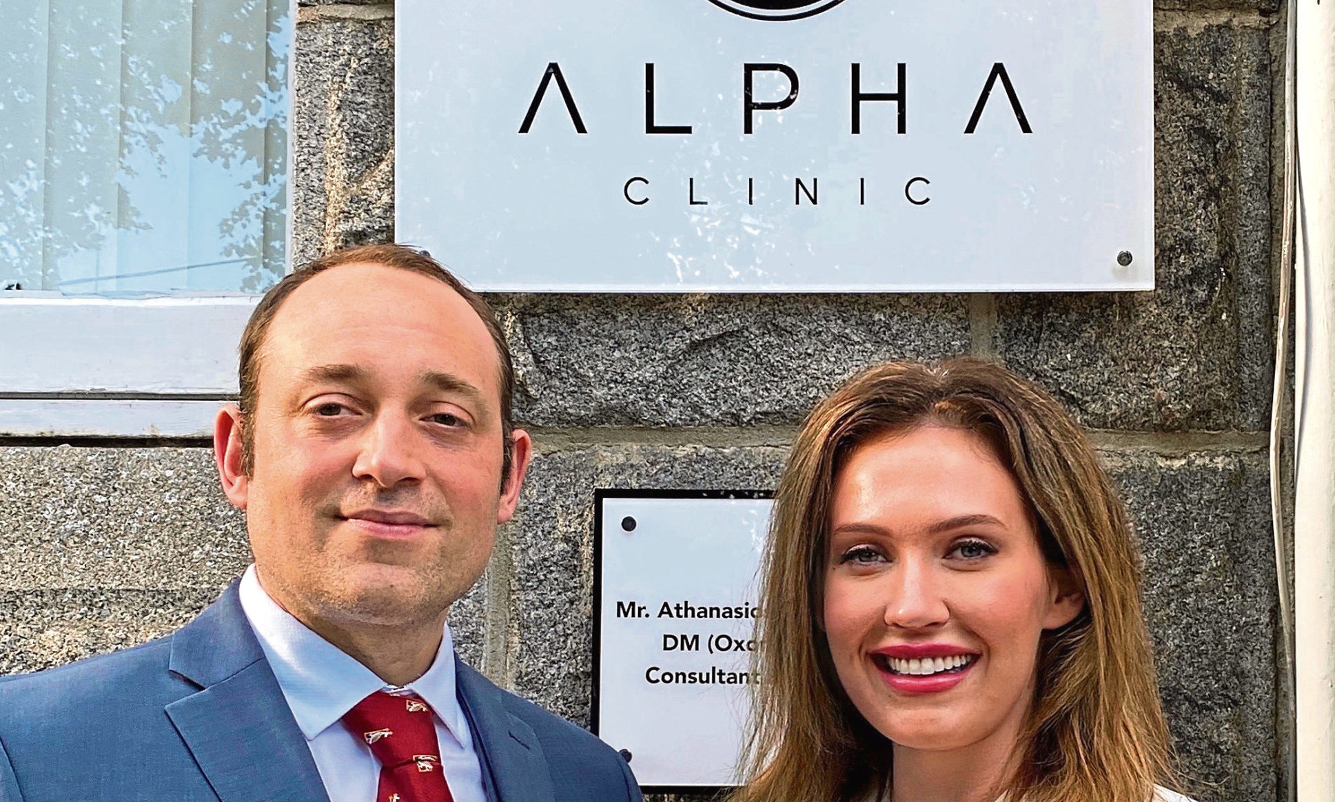 Leah and Thanassi Athanassopoulos, of Alpha Clinic