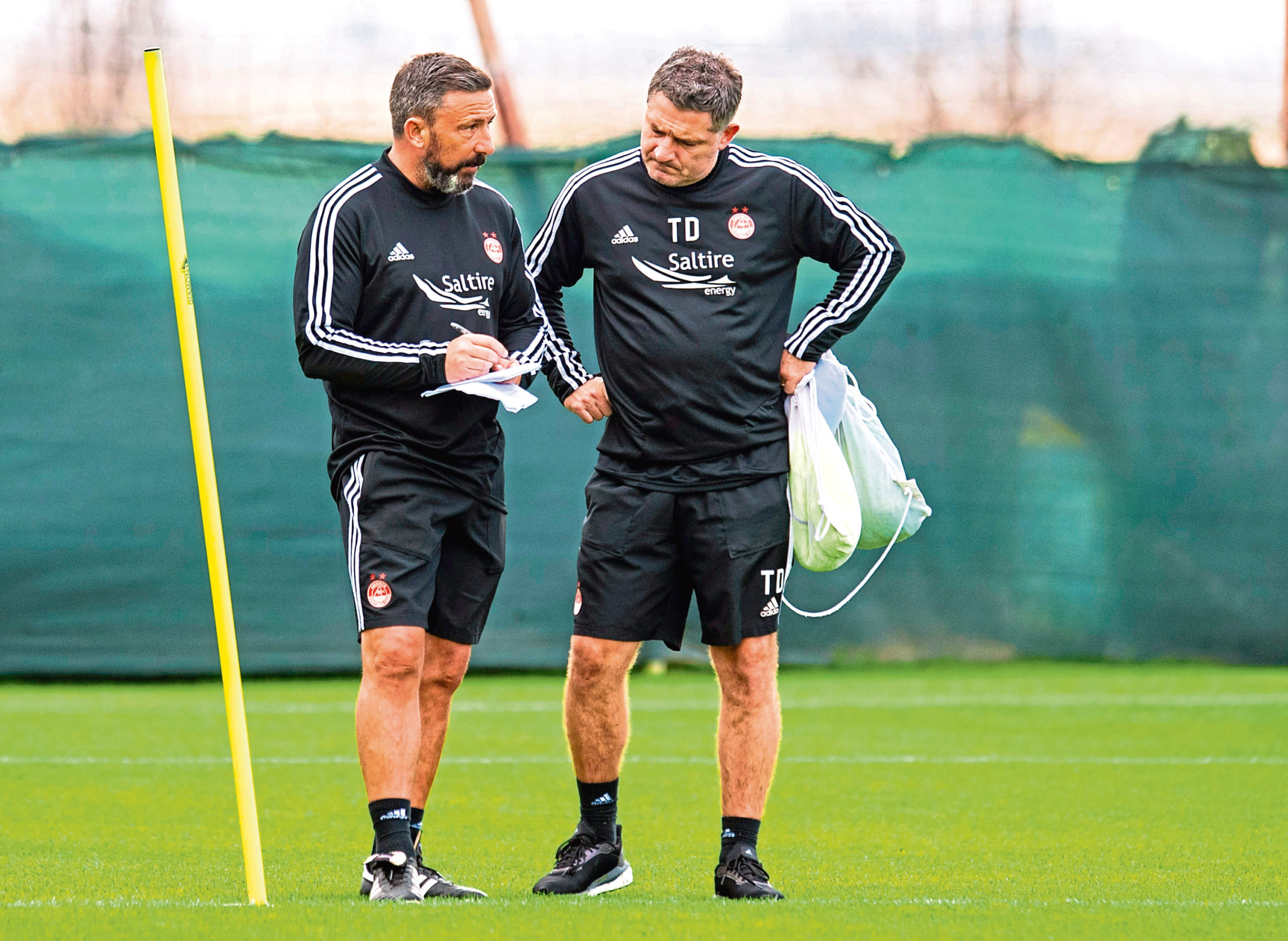 Derek McInnes and his staff are still on the lookout for a striker.