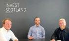 Invest Scotland founders (l-r) James Longcroft, John Ross, Sean Rollo