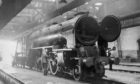 One of the magnificent steam engines that could be found in Ferrhill train sheds in 1966.