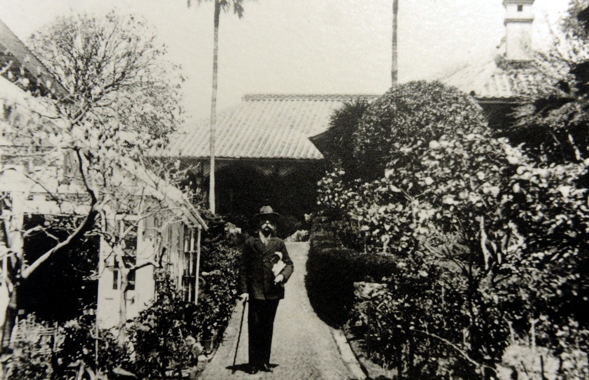 The late  Thomas Blake Glover at his house in Nagasaki circa 1896 Picture by Chris Sumner