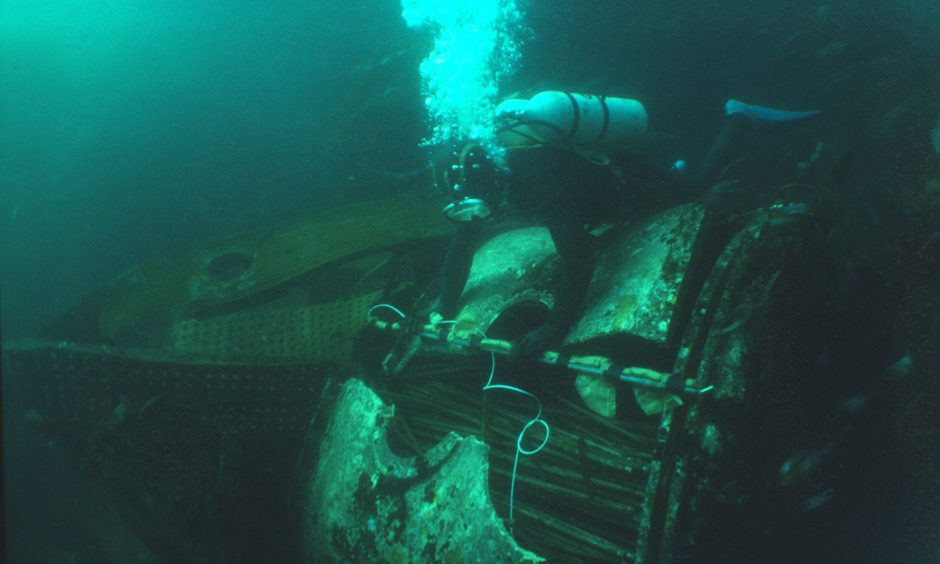 Alec Crawford, a marine salvage hunter   from Newport-on-Tay, investigates the famous RMS Oceanic.